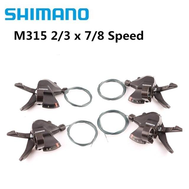 시마노 Altus SL-M315 시프터 2X7 2X8 3x8 3x7 14 16 21 24 스피드 시프트 트리거 세트 Rapidfire Plus 쉬프터 케이블 업데이트 M310