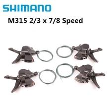 シマノアルタスSL M315 M360シフター2X7 2X8 3 × 7 3 × 8 14 16 21 24スピードmtbマウンテンバイクバイクのシフトレバー伝送トリガーセット