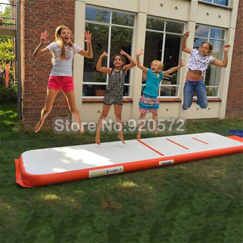 Free Shipping Free One Pump 4x1m DWF Inflatable Air Gym Track Tumbling Mat, Drop Stitches Material Air Track