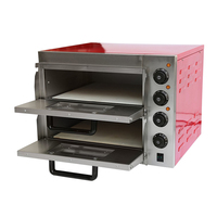 Pizza Cake Oven Double Electric Oven Pink Pizza Oven Bread Cake Baking Box Shop Electric Oven PZ ER2PR
