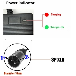 Image 2 - 1PCS lowest price 54.6V 3A Charger 54.6v 3A electric bike lithium battery charger for 48V lithium battery pack XLR Plug