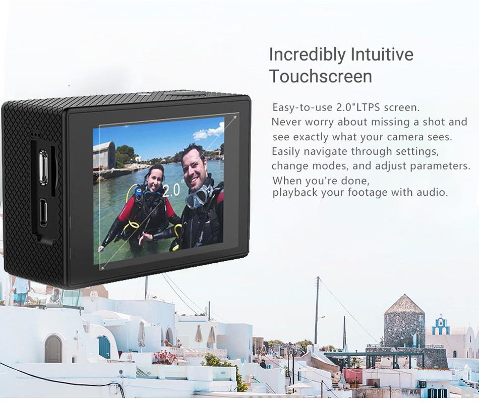 "SJCAM SJ4000 Cámara de Acción Full HD 4K 30FPS WIFI 2,0 ""Pantalla Mini casco impermeable deportes DV Cámara 6"