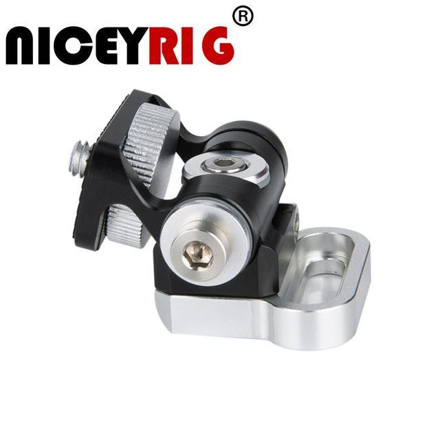 Niceyrig حامل شاشة دوار للكاميرا ، دوران 360 درجة وإمالة ، قابل للتعديل بزاوية 170 درجة