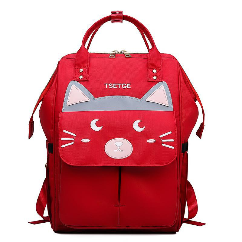 2019 Summer New Style Korean-style Style Diaper Bag Solid Color Backpack Oxford Cloth Car Suture Reflective Backpack