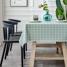 Pvc plástico retangular engrossar grade floral impresso toalha de mesa oilcloth à prova doilágua cozinha mesa de jantar colth capa esteira