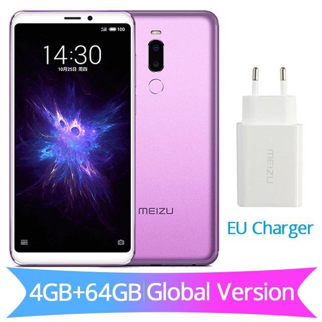 Глобальная версия Meizu Note 8, 4 Гб ОЗУ, 64 Гб ПЗУ, Note8, мобильный телефон Snapdragon 632, четыре ядра, 5,99 дюйма, 2160X1080 P, зарядное устройство европейского стандарта, 3600 мА/ч - Цвет: EU Charger Purple