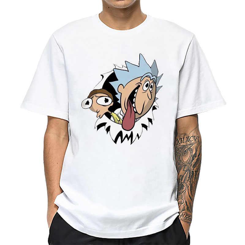 男性の Tシャツリックと Morty オム夏半袖メンズ Tシャツ男性 Tシャツ Camiseta Tシャツオム