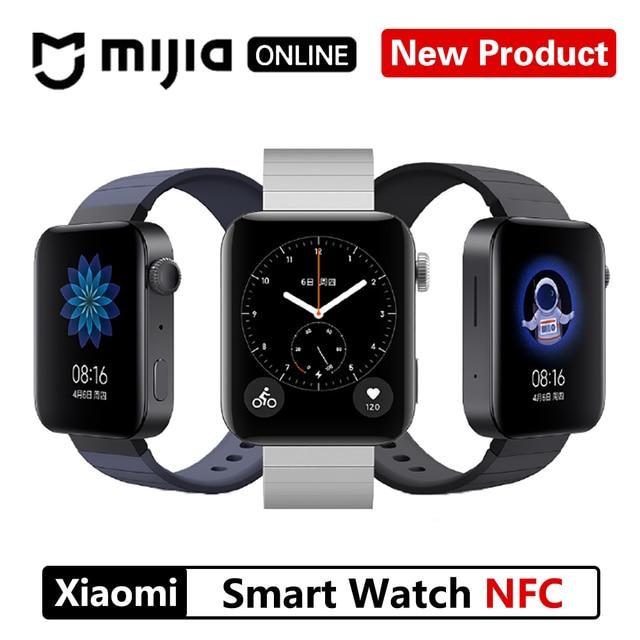 ใหม่Xiaomiสมาร์ทนาฬิกาGPS NFC WIFI ESIM DRIVERS BYโทรศัพท์สร้อยข้อมือนาฬิกาข้อมือกีฬาบลูทูธFitness Heart Rate Monitor Tracker MIUI