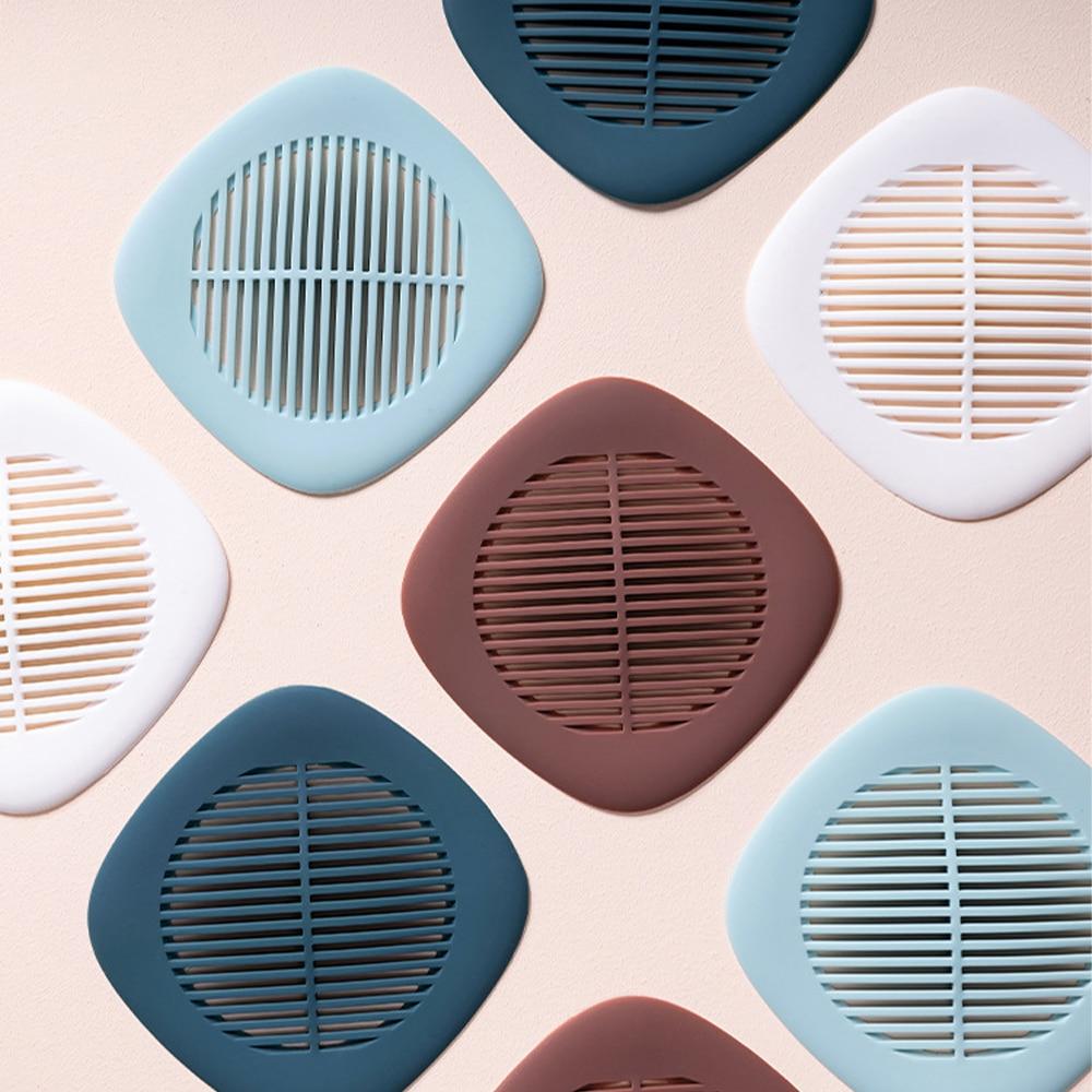 filtro de malla de la basura del fregadero del silic/ón del ba/ño de la cocina Silicona antibloqueo del colador del fregadero de 4 PC