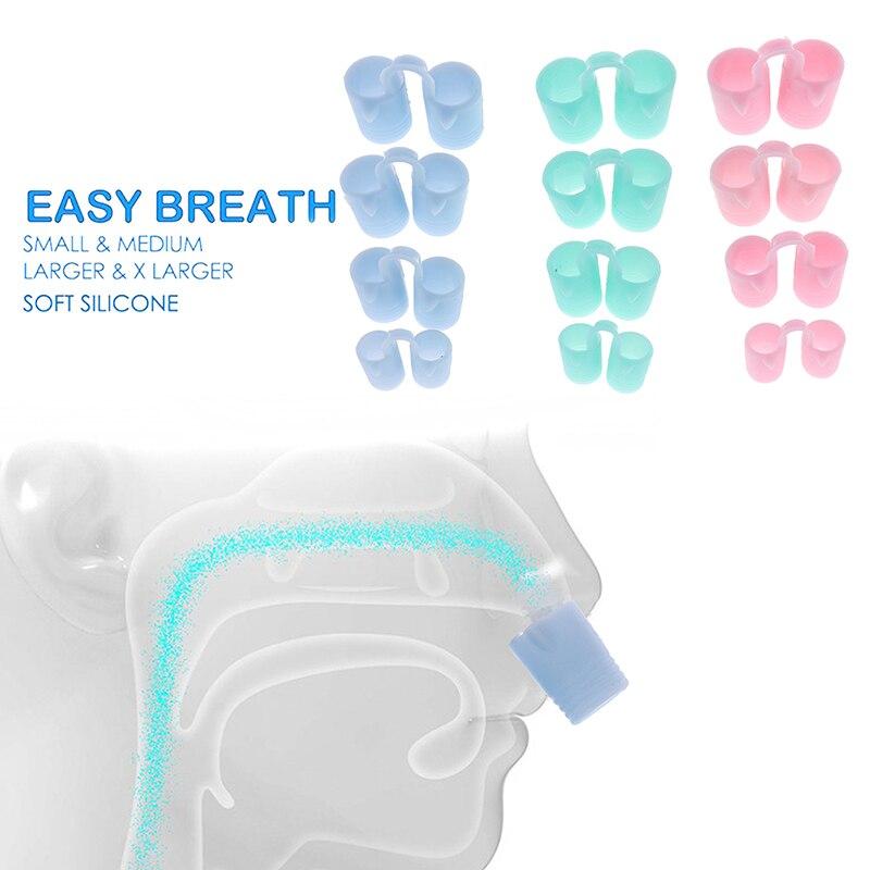 4PCS/box Anti Snore Apnea Nose Clip Anti-Snoring Breathe Aid Stop Snore Device Sleeping Aid Equipment Stop Snoring