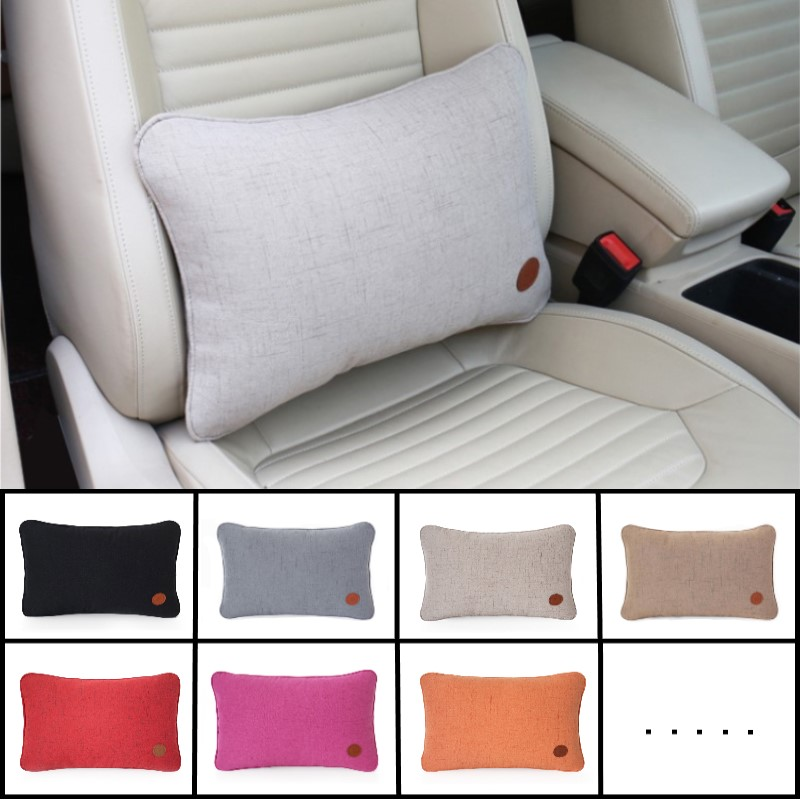 Image 5 - Car seat lumbar support auto Seat Chair Back Massage Lumbar Support  pillow car cover Office Home car styling General Automotive-in Seat Supports from Automobiles & Motorcycles