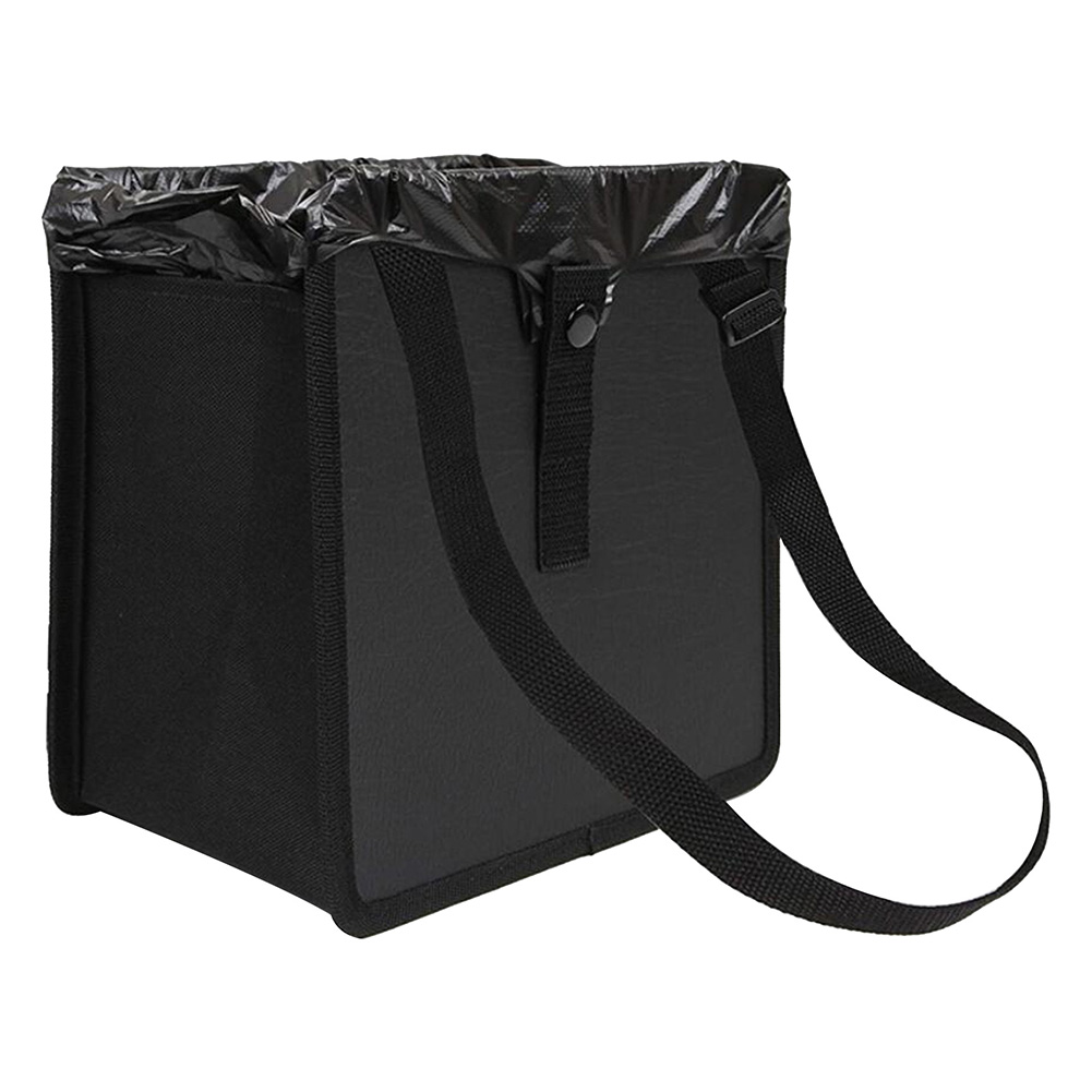 Car Trash Can Multifunctional Synthetic Leather Oxford Fabric Auto Waste Basket Can Pack Bag Waterproof Trash Bag