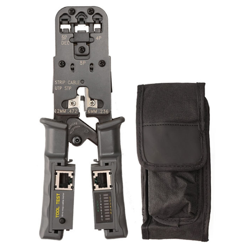 2 in 1 RJ45 Network LAN Cable Crimper Pliers Cutting Tool Cable Tester Pliers 6P 8P Wire Cutter Tool Crimping Pliers