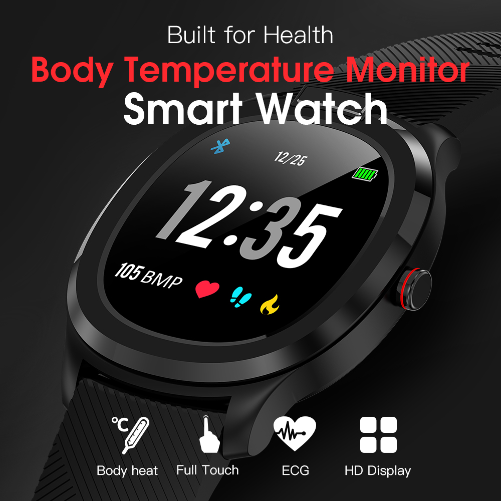 696 Waterproof T01 Smart Watch Men Women Fitness Wristband Heart Rate  Monitor Smartwatch Weather Body Temperature Measurement