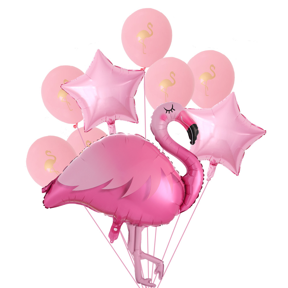 1 Set Flamingo Konfetti Latex Ballons Hawaiian Tropical Sommer Party Liefert Hochzeit Dekoration Geburtstag Party Decor Luftballons
