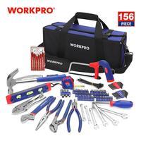 Workpro 156 pc 홈 수리 도구 세트 도구 키트 도구 가방 드라이버 해머 펜치 렌치|수공구 세트|   -
