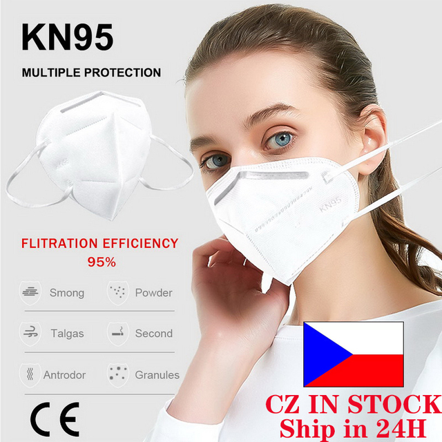 10pcs KN95 Ship From CZ Mask 5 Layer Flu Anti Infection N95 Protective Masks Ffp2  PM2.5 Safety Same As KF94 FFP3