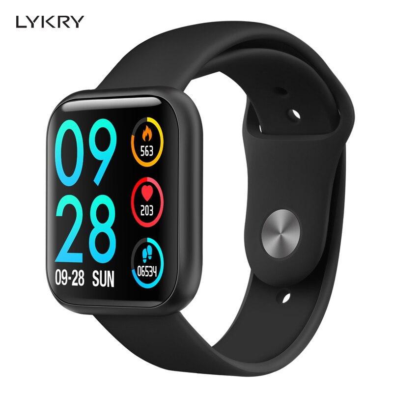 LYKRY P80 montre intelligente femmes IP68 étanche plein écran tactile smartwatch moniteur de fréquence cardiaque pour samsuang xiaomi huawei Android