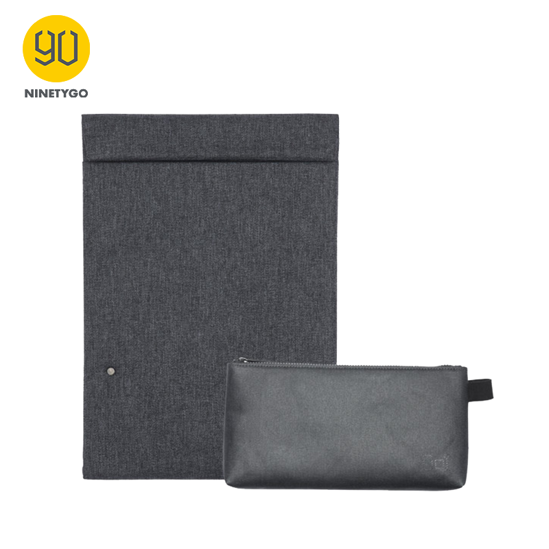 NINETYGO 90FUN City Concise Series Laptop Briefcase Accessory Holder For 13inch Tablet Business Water Resistant Sleeve Men