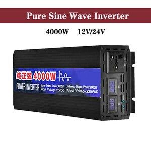Pure Sine Wave Power solar Inverter DC12V 24V to AC220V 2000W 3000W 4000W Voltage Transformer Converter Car Micro remote