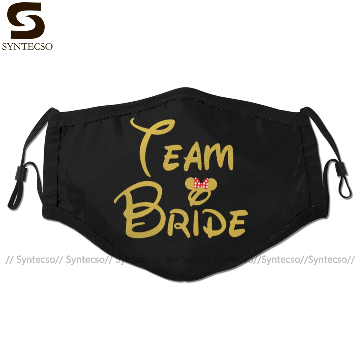 Team Bride Mouth Face Mask Team Bride Facial Mask Fashion Cool With 2 Filters For Adult