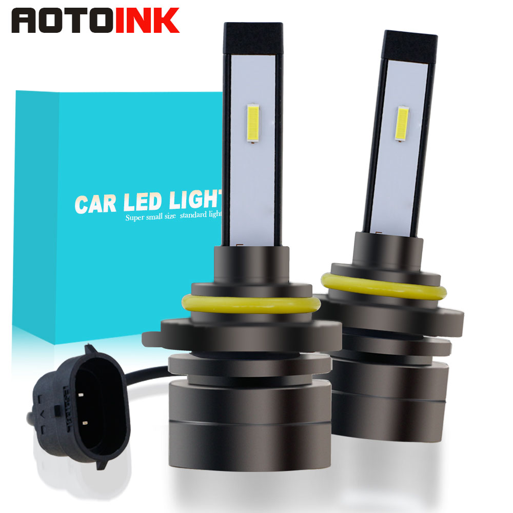 9005/HB3 H4 HB2 9003 H8 H9 H11 H7 H27 Car LED Headlight Bulbs 60W CSP Super Mini Fog Light Headlamp12V 8000LM 2PCS