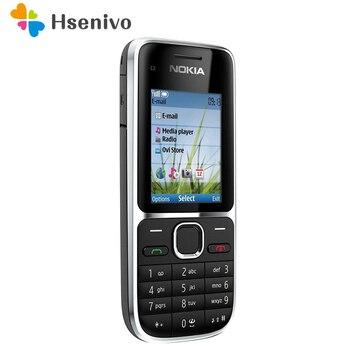 Перейти на Алиэкспресс и купить Мобильный телефон Nokia, разблокированный, 100% оригинал, C2, 2,0 дюйма, МП, Bluetooth, русская и ивритская клавиатура, Восстановленный GSM/WCDMA 3G телефон