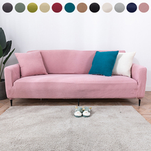 1 2 3 4 Seat Knitted Thick Elastic Sofa Cover Polar Fleece Fabric All inclusive Cushion