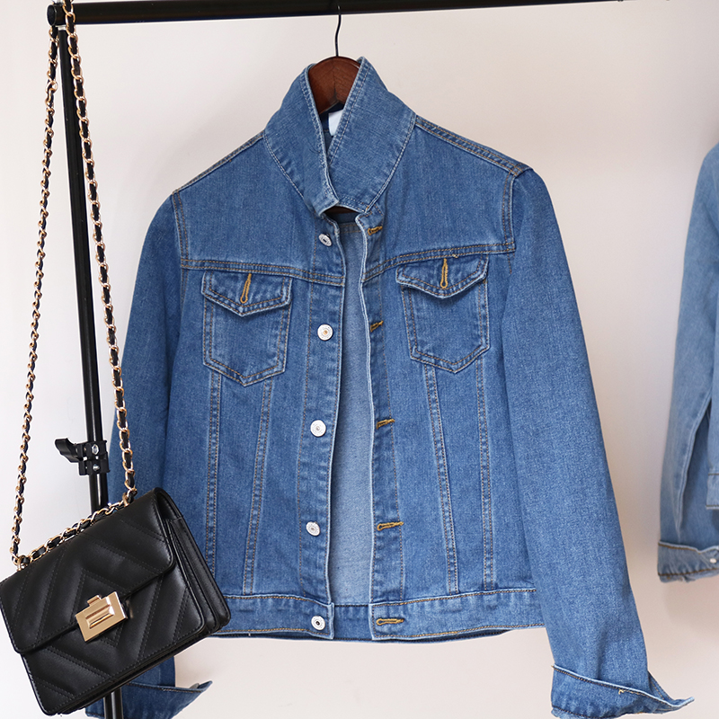 Hfc0905fdaaf9454ca5d6dfdafe559f09H Jeans Jacket and Coats for Women 2019 Autumn Candy Color Casual Short Denim Jacket Chaqueta Mujer Casaco Jaqueta Feminina