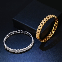 Silver/Gold Color Simple Men Bracelets & Bangles for Women Indian Jewelry Dropshipping