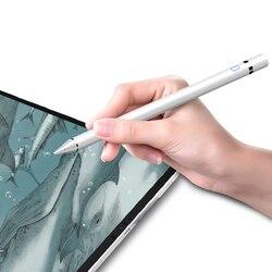 Chargable rysik pióro dotykowe dla tabletu iPad pojemnościowy pióro dotykowe cil dla iPhone telefon komórkowy z androidem tabletki pióro do rysowania w Rysiki do tabletów od Komputer i biuro na