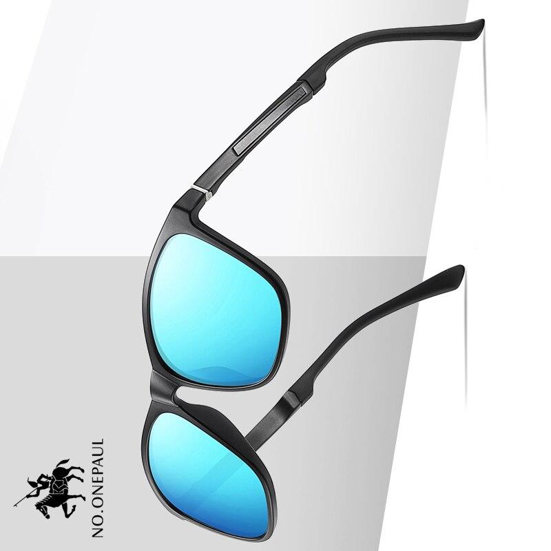 NO.ONEPAUL Sun Glasses Male For Men Fashion Womens Pilot Sunglasses Men Polarized Metal Frame Anti-Glare Mirror Lens Fishing