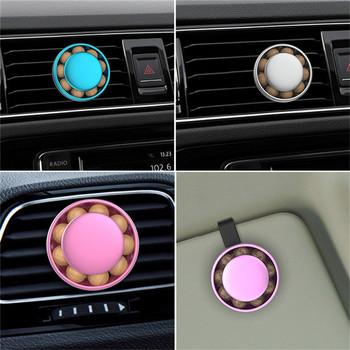 Akcesoria samochodowe odświeżacz powietrza samochód natura zapach Mini klimatyzacja wylot wentylacyjny klips do odświeżacza świeży zapach do aromaterapii tanie i dobre opinie DAYLYRIC CN (pochodzenie) Air Freshener 5 5cm Żel cyan-blue sliver green pink