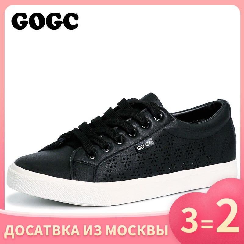 GOGC Sneakers Design Shoes Women Breathable Summer Flats Women's Shoes Women Slipony Shoes With Hole Women's Vulcanize Shoes 917