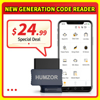 HUMZOR NexzScan OBD2 Scanner Code Reader Bluetooth 4.2 Diagnostic Tool for iPhone, iPad & Android PK Bluedriver OBDLink