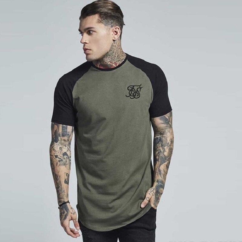 Mens T Shirt Sik Silk New Fashion Striped T Shirt Mens Clothing  Silk Silk Short Sleeve Casual  Siksilk Mens Top Tee Shirt