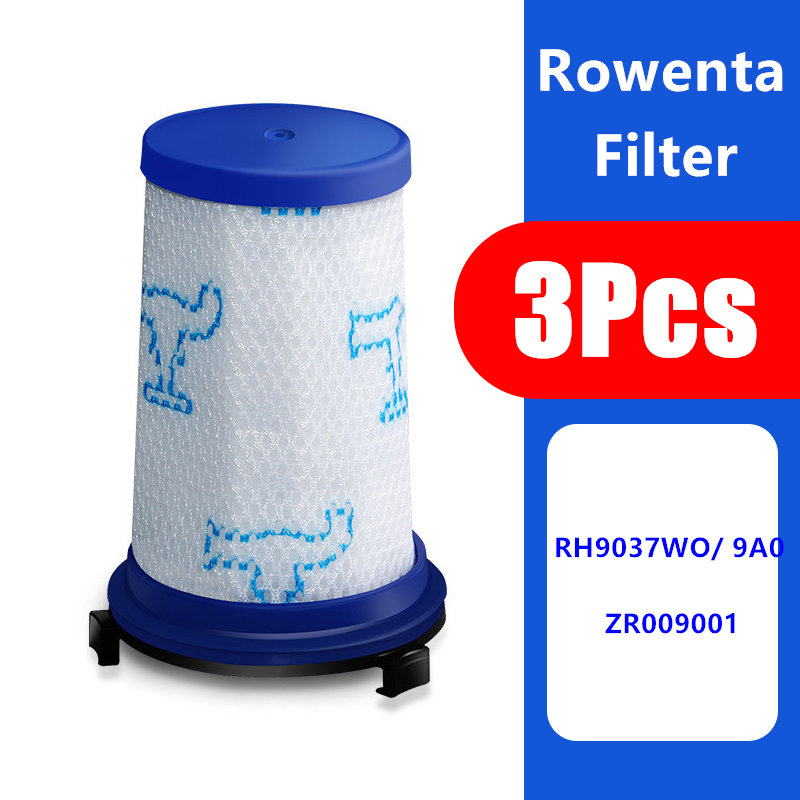 3pcs Filter Replacement Fit For Rowenta Force 360 Vacuum Cleaner Parts Hepa Filter Accessories ZR009001