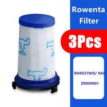 Filtro para aspirador peça de substituição, encaixa para rowenta force 360, acessórios para filtro hepa zr00iso 3 pçs