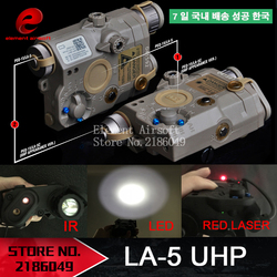 Element Airsoft LA-5 Red Laser IR Laser LED Appearance Version LA5 IR Laser PEQ15 Red Laser Tactical Flashlight Hunting EX396