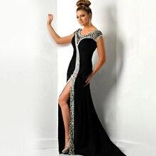 Женское вечернее платье Русалка it's yiiya черное прозрачное