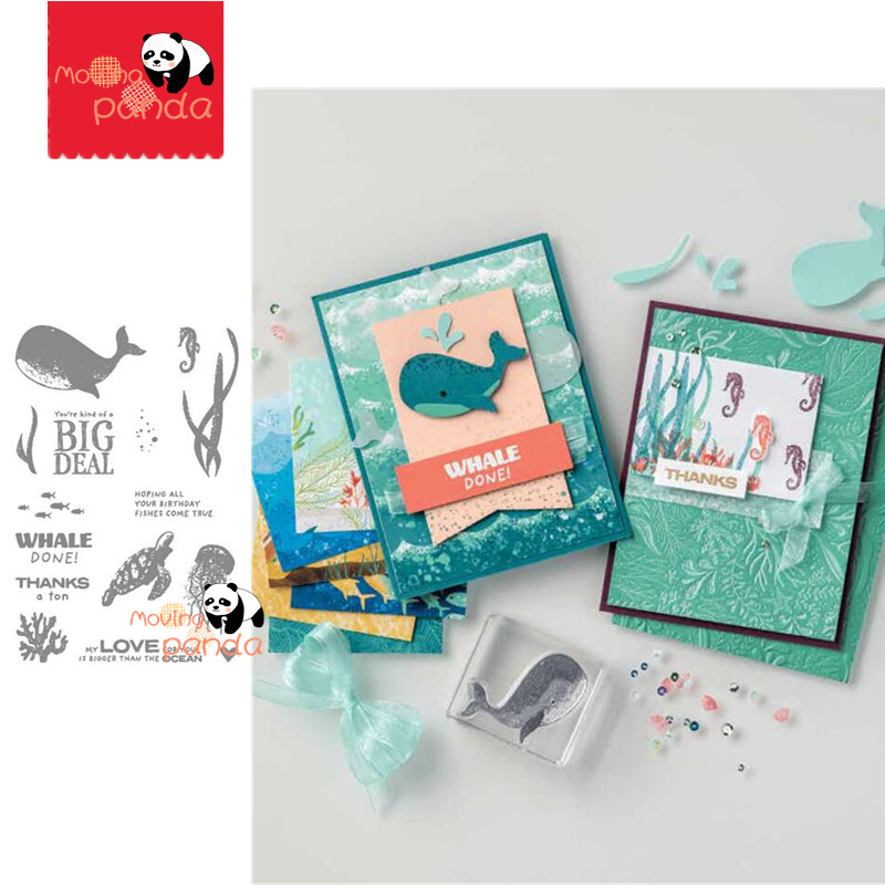 MP138 WHALE DONE Metal Cutting Dies And Stamps Stencil For DIY Scrapbooking Paper/photo Cards Embossing Dies