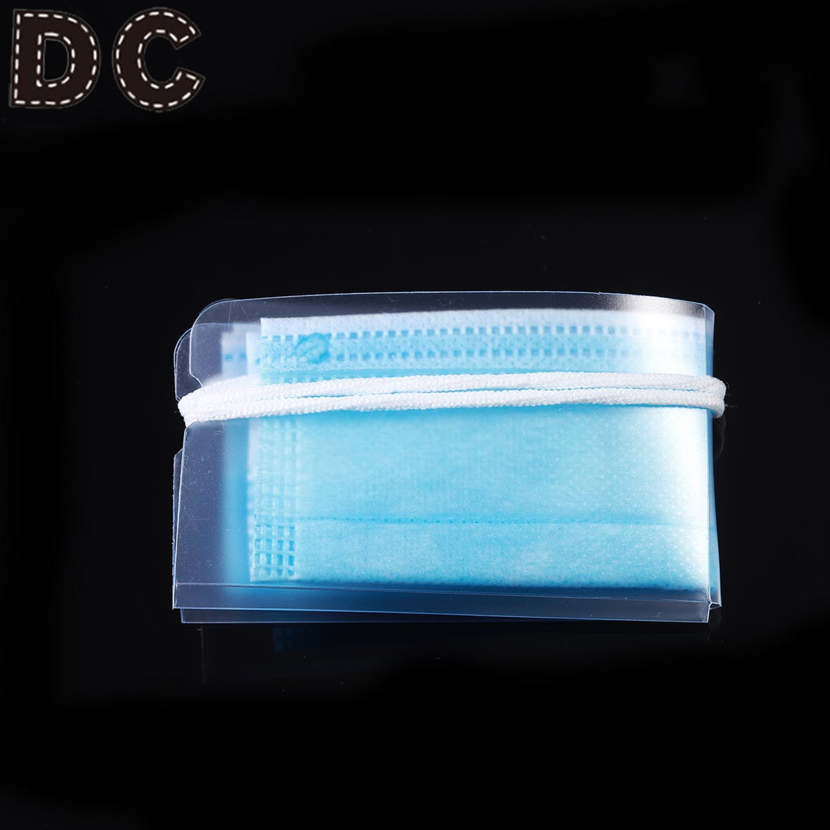 DC 1/10/50pcs  Transparent Face Mask Storage Case Disposable Mask Storage Clip Portable Mouth-muffle Organizer Mask Folder