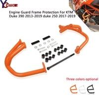 duke 390 2019 Motorcycle Crash Bar Frame Motor Engine Guard Guard Bumper for KTM 390DUKE 2013 2014 2015 2016 2017 2018 DUKE 390
