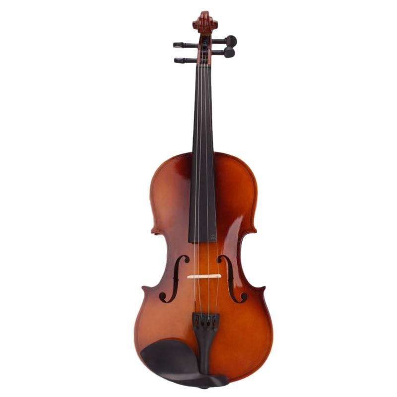 4/4 violon acoustique naturel pleine grandeur violon avec étui arc colophane muet autocollants - 3