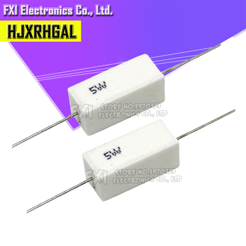 5R1 5,1R 5/% 10W High Load Resistor Wire Resistance Cement Axial #BP 10 PCs