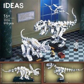 Jurassic World Park Dinosaur Fossils Building Blocks Sets Bricks Compatible With Lepining Model Children Toys Gifts