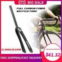 Lixada-horquilla de bicicleta de carretera ultraligera de 25,4mm, de fibra de carbono, 700C, de piñón fijo para ciclismo, horquilla delantera para bicicleta Fixie
