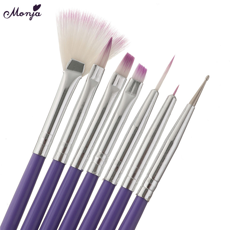 Nail Art Brush Pen Dotting Painting Drawing Fan Line Builder Design Polish Gel UV Tips Decoration Manicure Tools Nail Art Tools