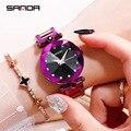 Лидер продаж роскошные стразы женские часы Звездные модные трендовые женские часы водонепроницаемые простые кварцевые со стальным ремешк...