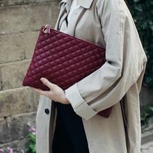 Women Clutches Envelope-Bag Diamond Luxury Ladies Bolsa PU Lattice Day Party